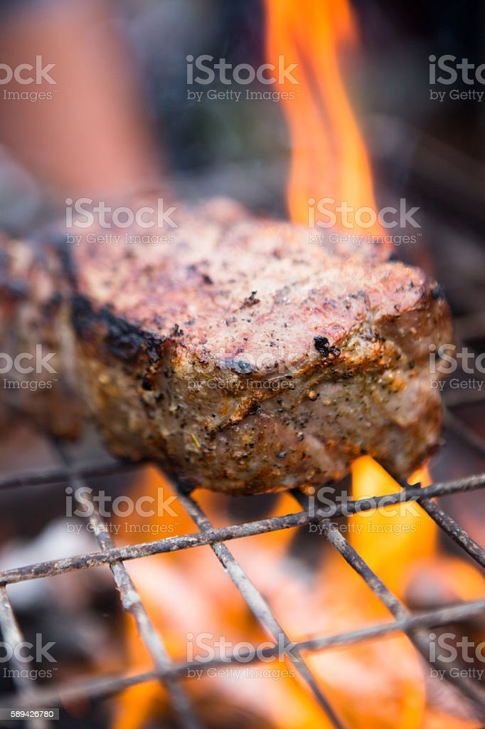Steak Barbecue stock photo