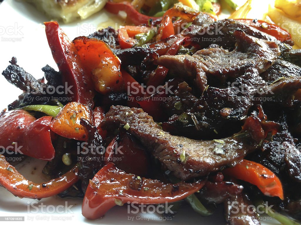 Steak Fajitas royalty-free stock photo