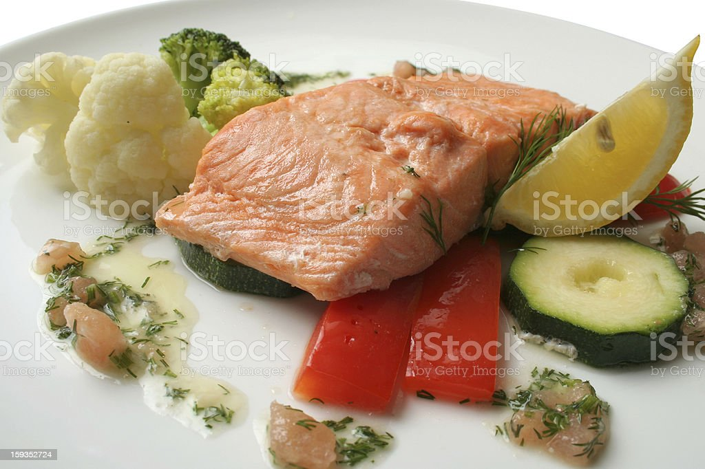 steak from a salmon royalty-free stock photo