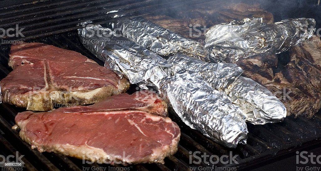 Steak Grilling stock photo