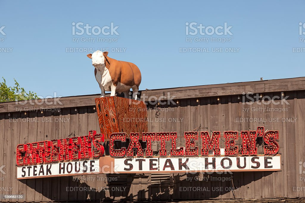 Steak House Cattlemen's in Fort Worth stock photo