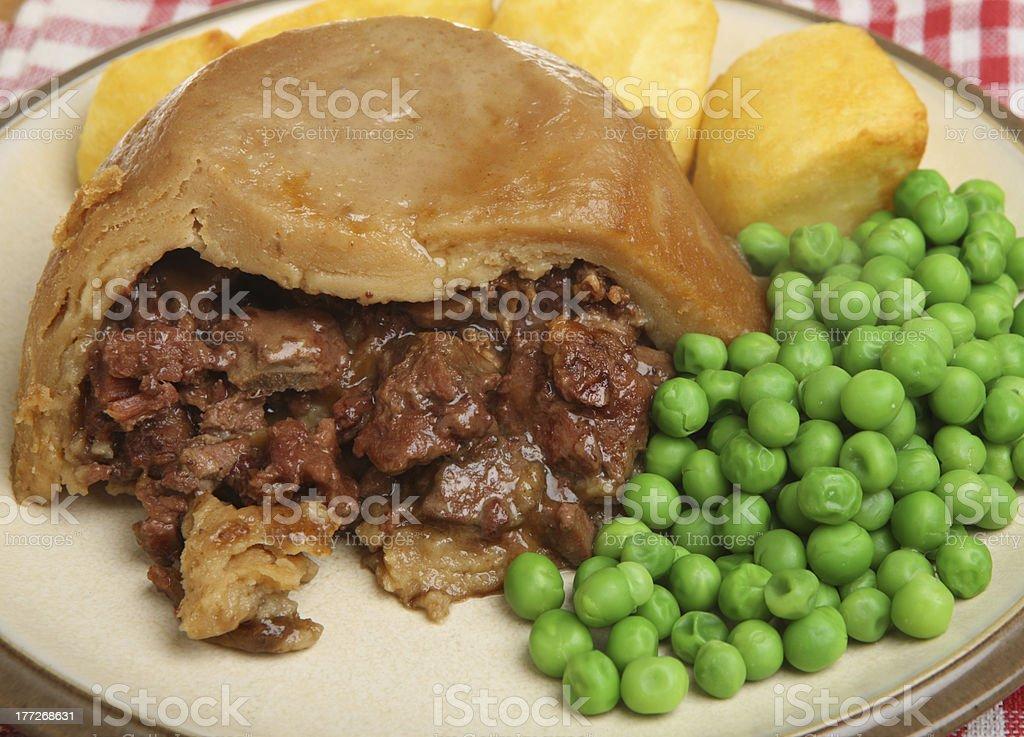 Steak & Kidney Pudding stock photo