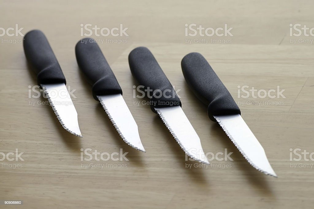 Steak Knives royalty-free stock photo