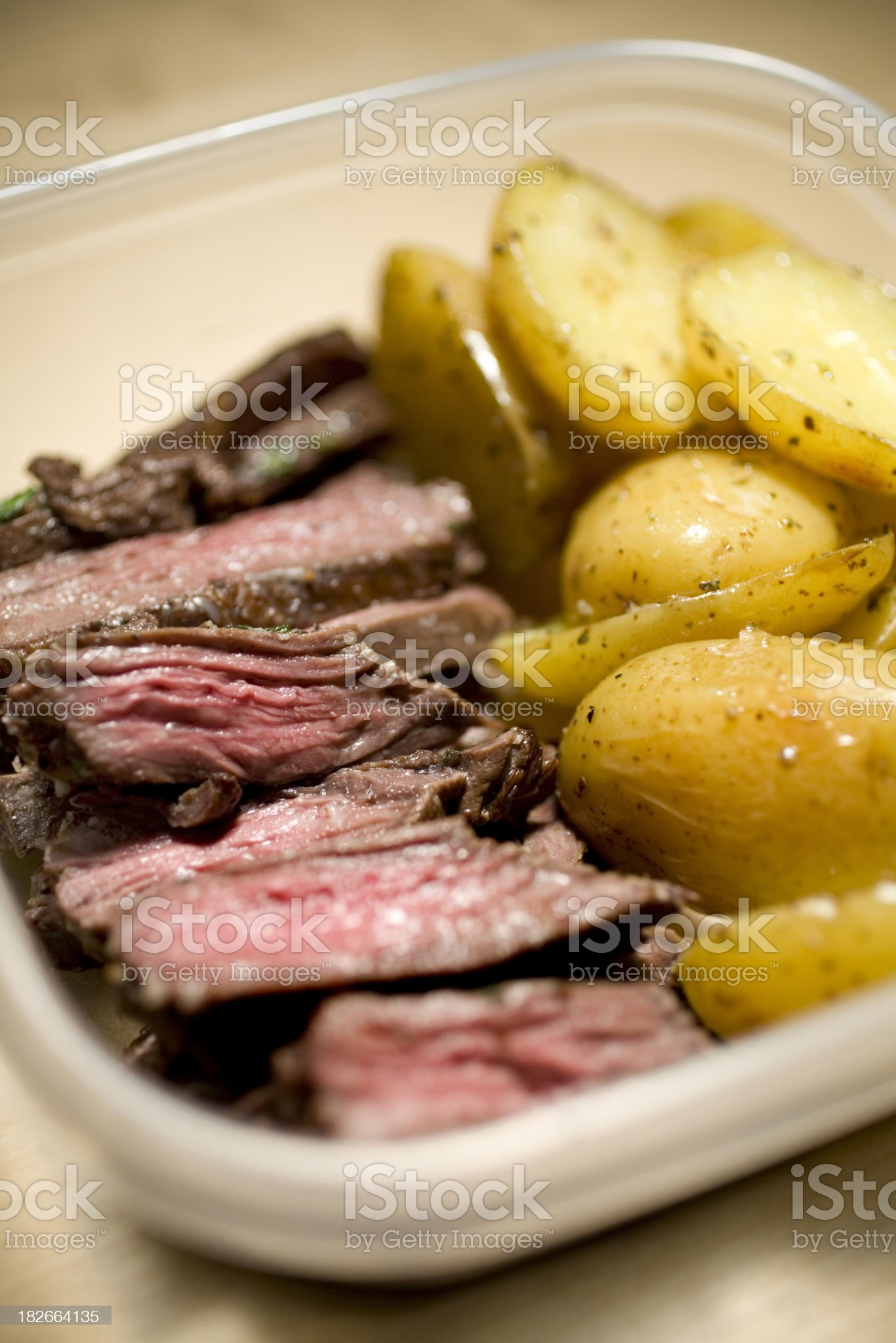 steak leftovers royalty-free stock photo