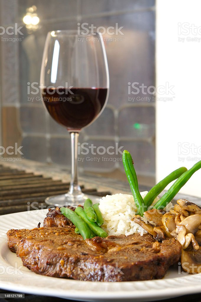 Steak meal ribeye stock photo
