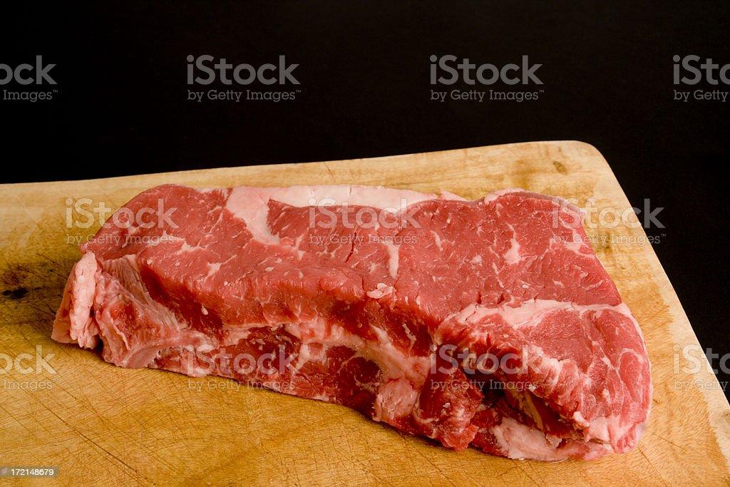 Steak on Board royalty-free stock photo