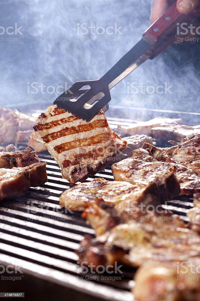 Steak on the Grill stock photo