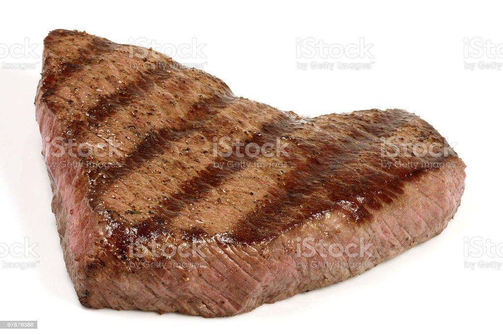 steak on white backgroud royalty-free stock photo