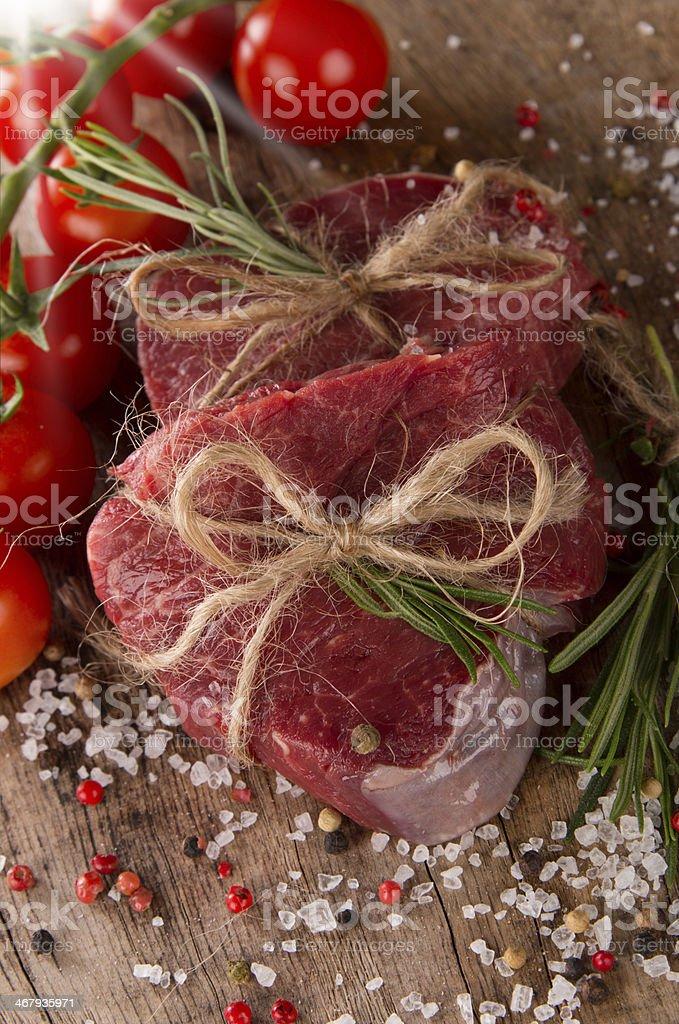 steak on wood royalty-free stock photo