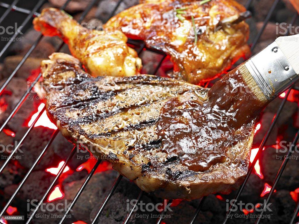 BBQ Steak royalty-free stock photo