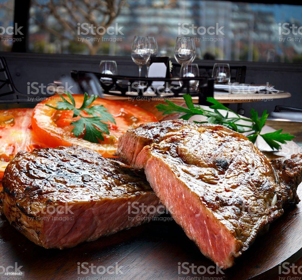 BBQ steak stock photo