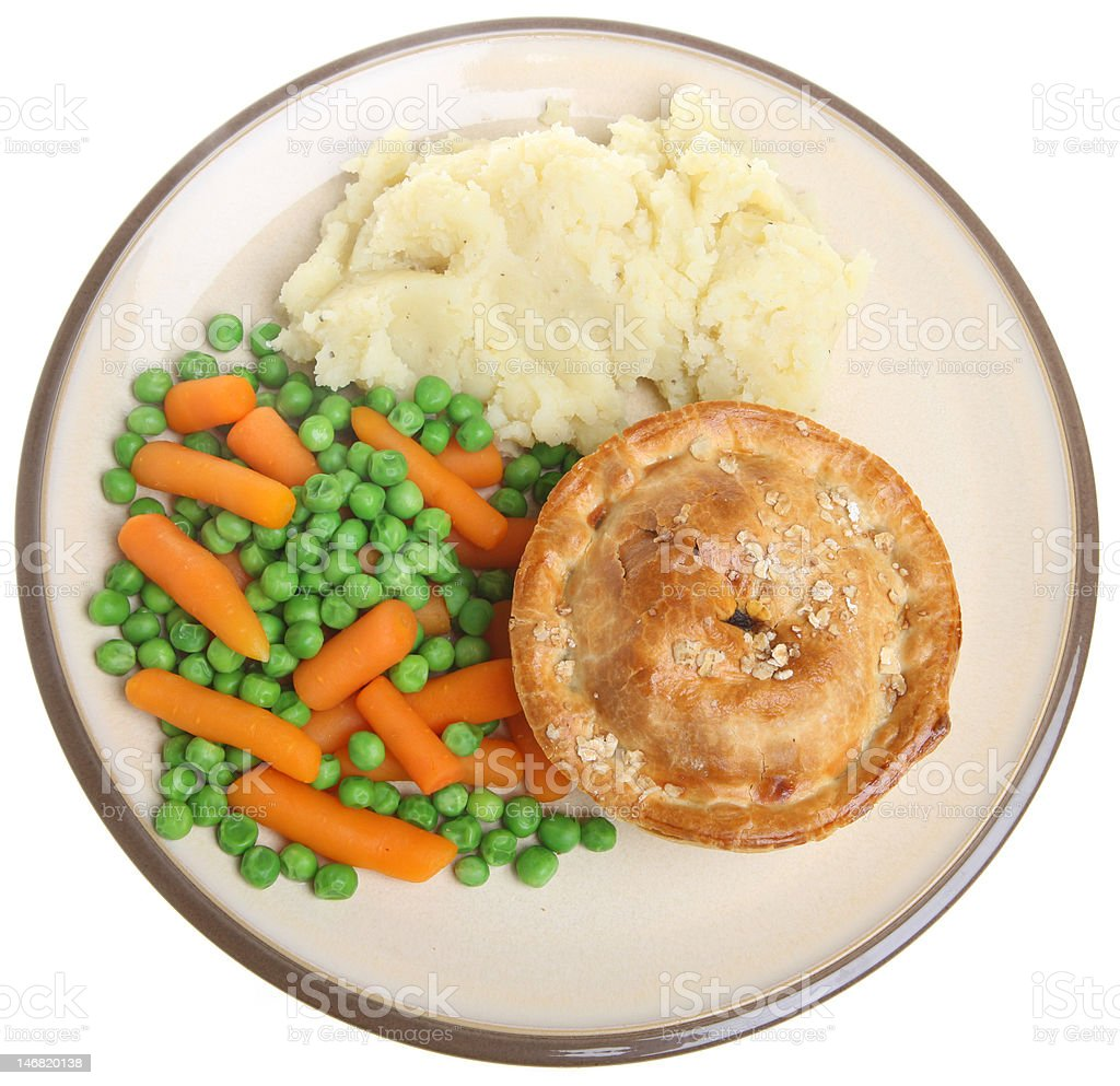 Steak Pie and Mash royalty-free stock photo