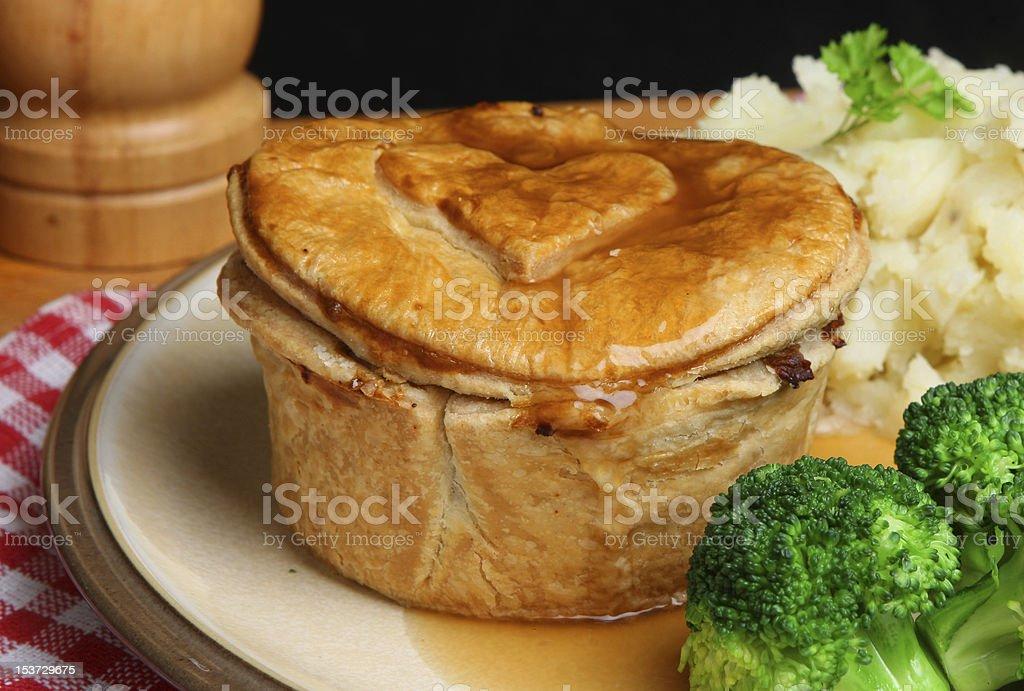 Steak Pie Meal stock photo