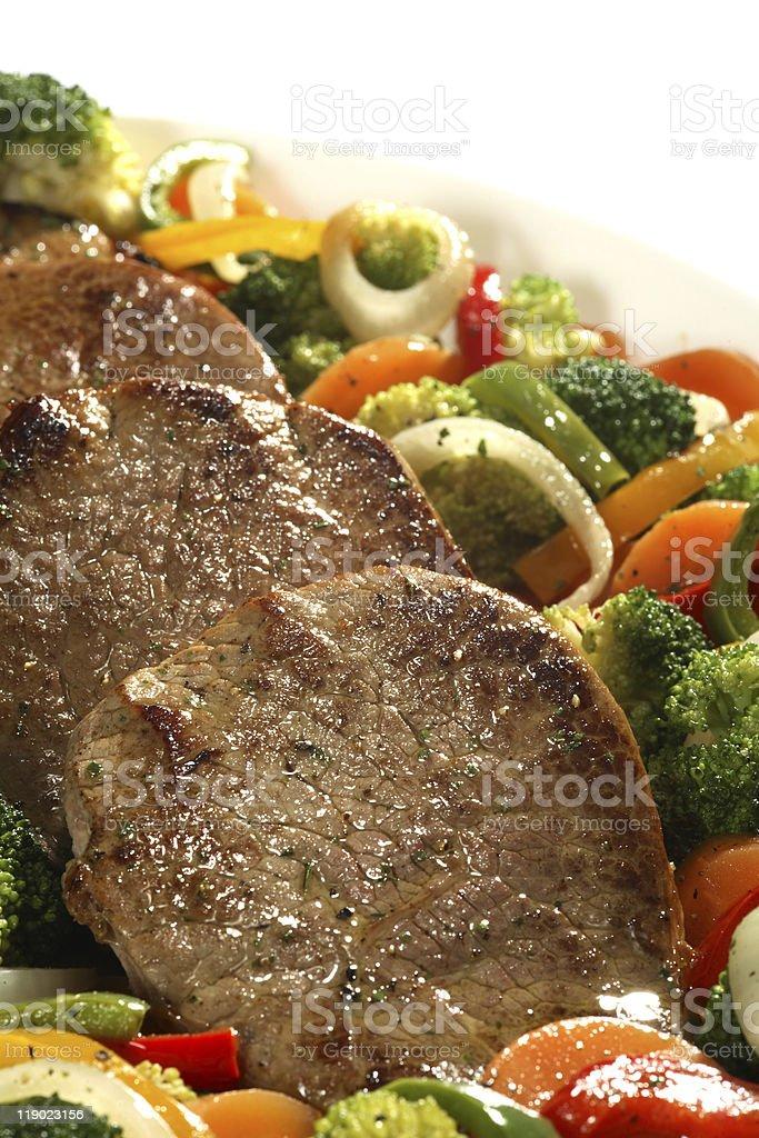 steak plate royalty-free stock photo