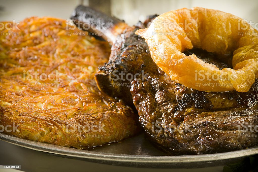 steak platter royalty-free stock photo