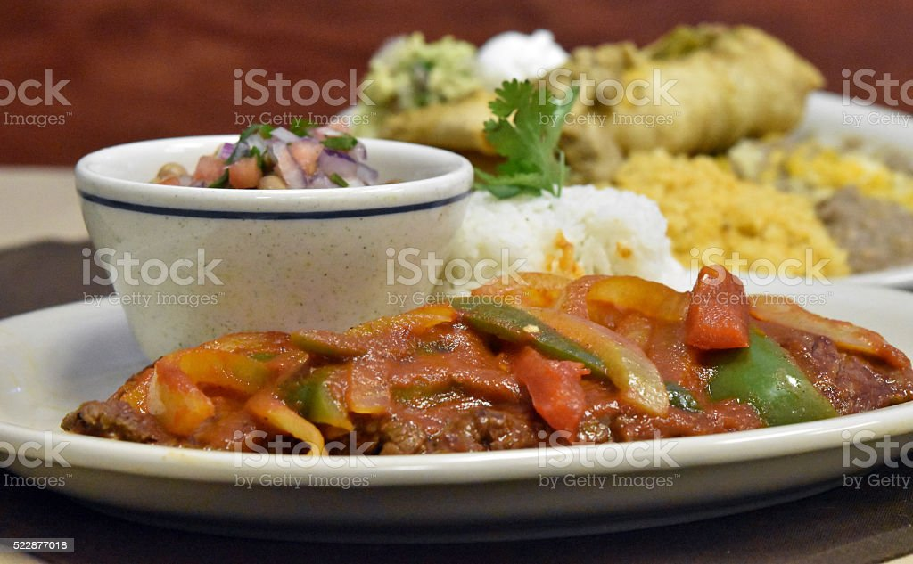 Bistec Ranchero Beginning stock photo