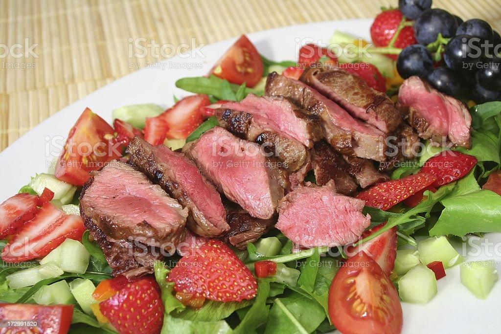 Steak Salad royalty-free stock photo