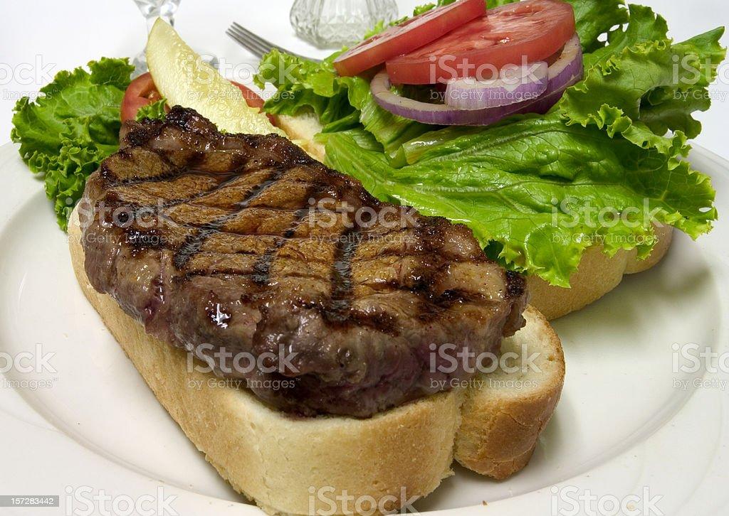 Steak Sandwich stock photo
