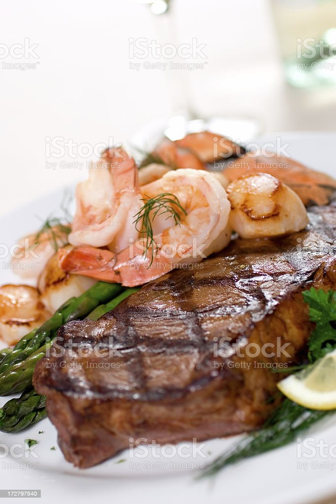 Steak & Seafood royalty-free stock photo