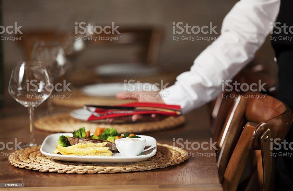 Steak set meal royalty-free stock photo