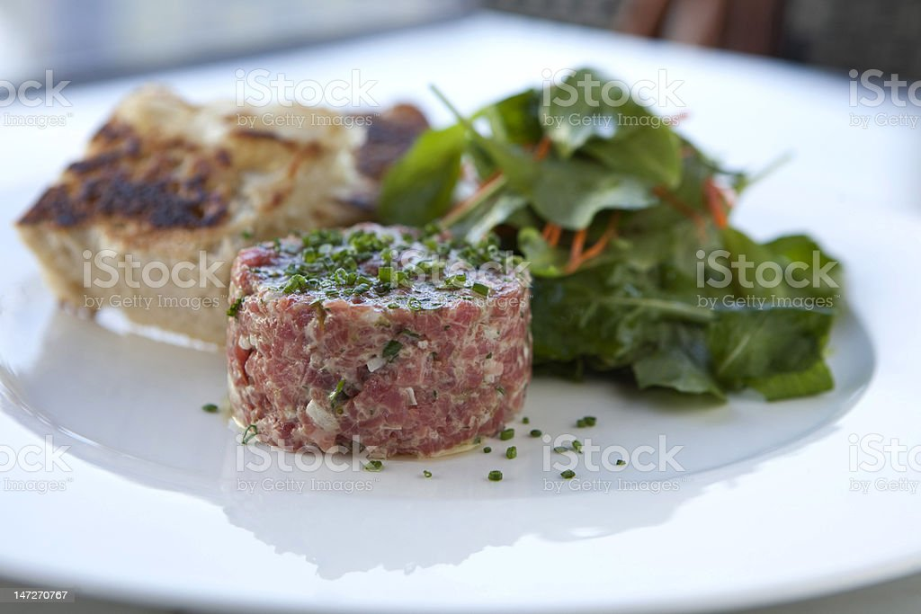 Steak Tartare Dish stock photo