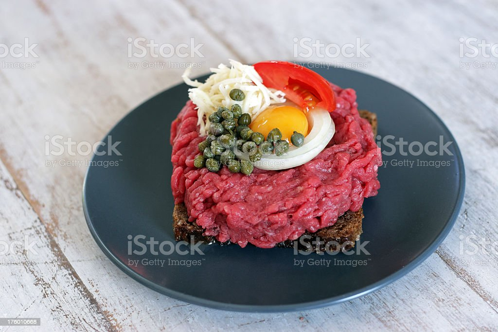 Steak tartare stock photo