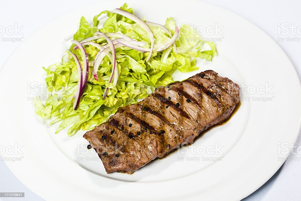 Steak view from above royalty-free stock photo