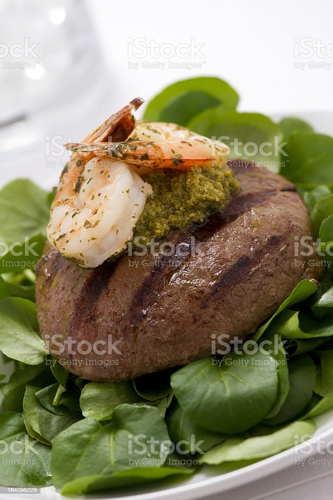 Steak with Shrimp royalty-free stock photo
