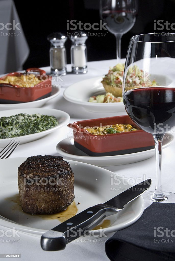 steak with sides royalty-free stock photo