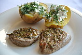 Steak with Stuffed Potato