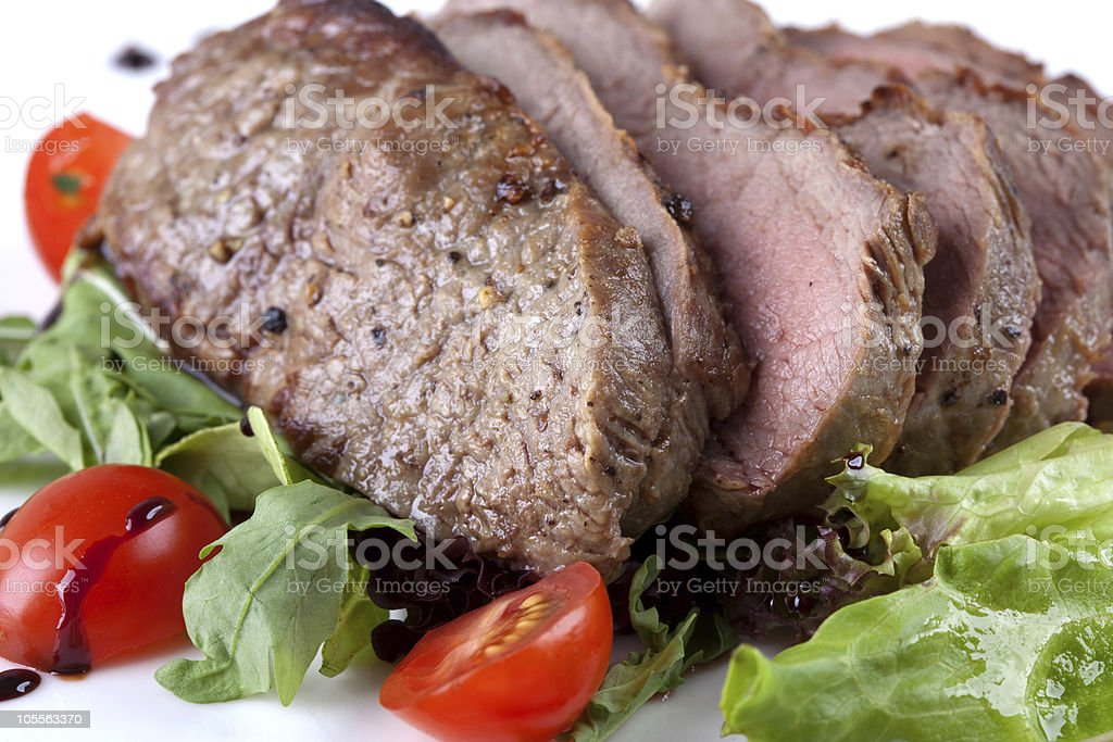 steak with vegetable royalty-free stock photo