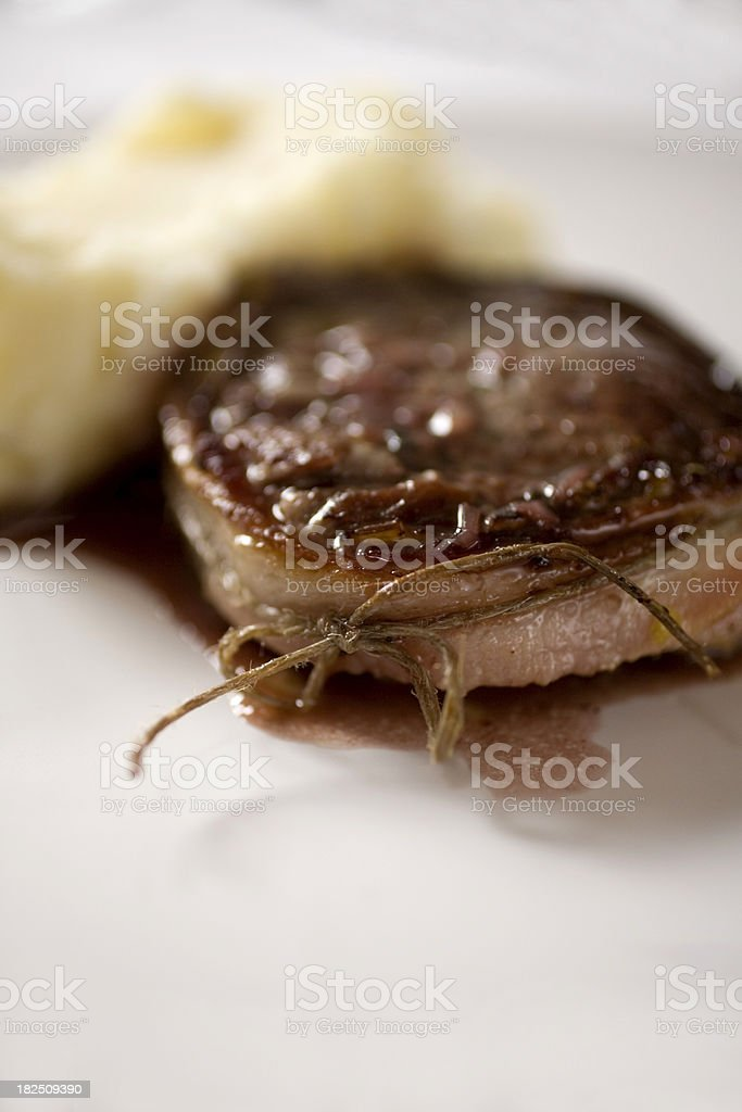 steak wrapped in bacon royalty-free stock photo