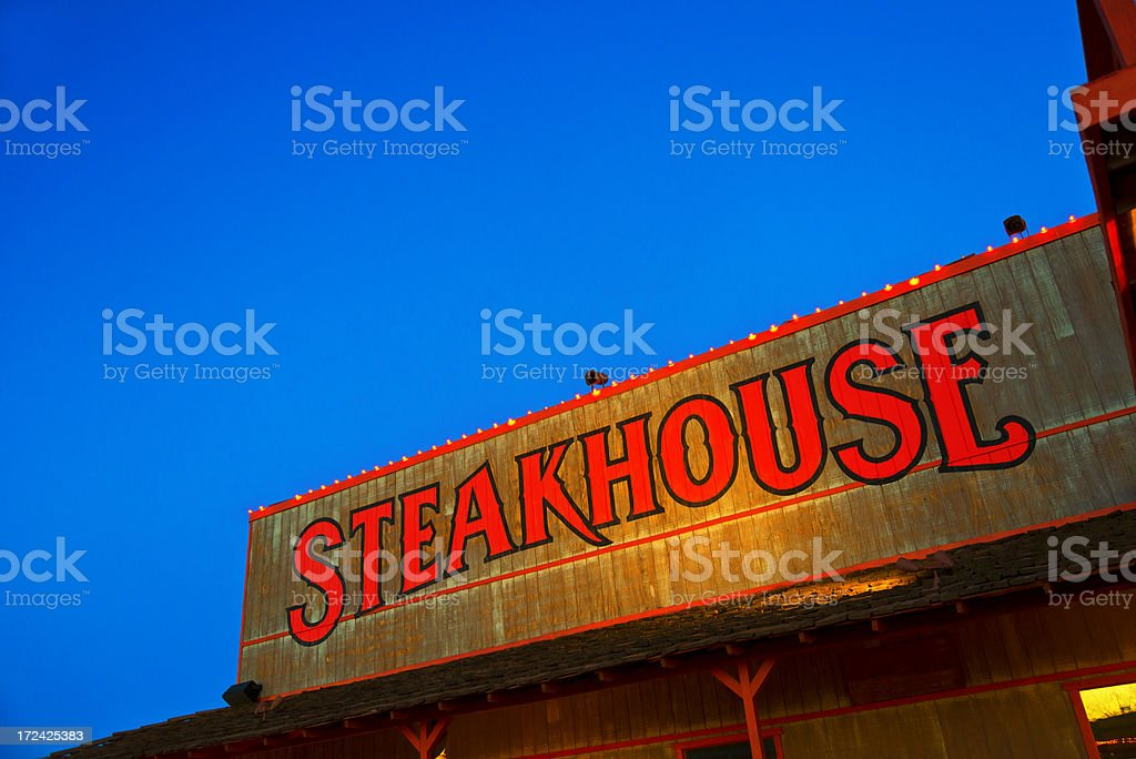 Steakhouse Sign royalty-free stock photo