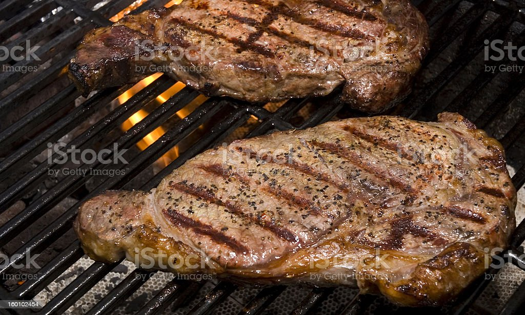 Steaks on the Grill stock photo