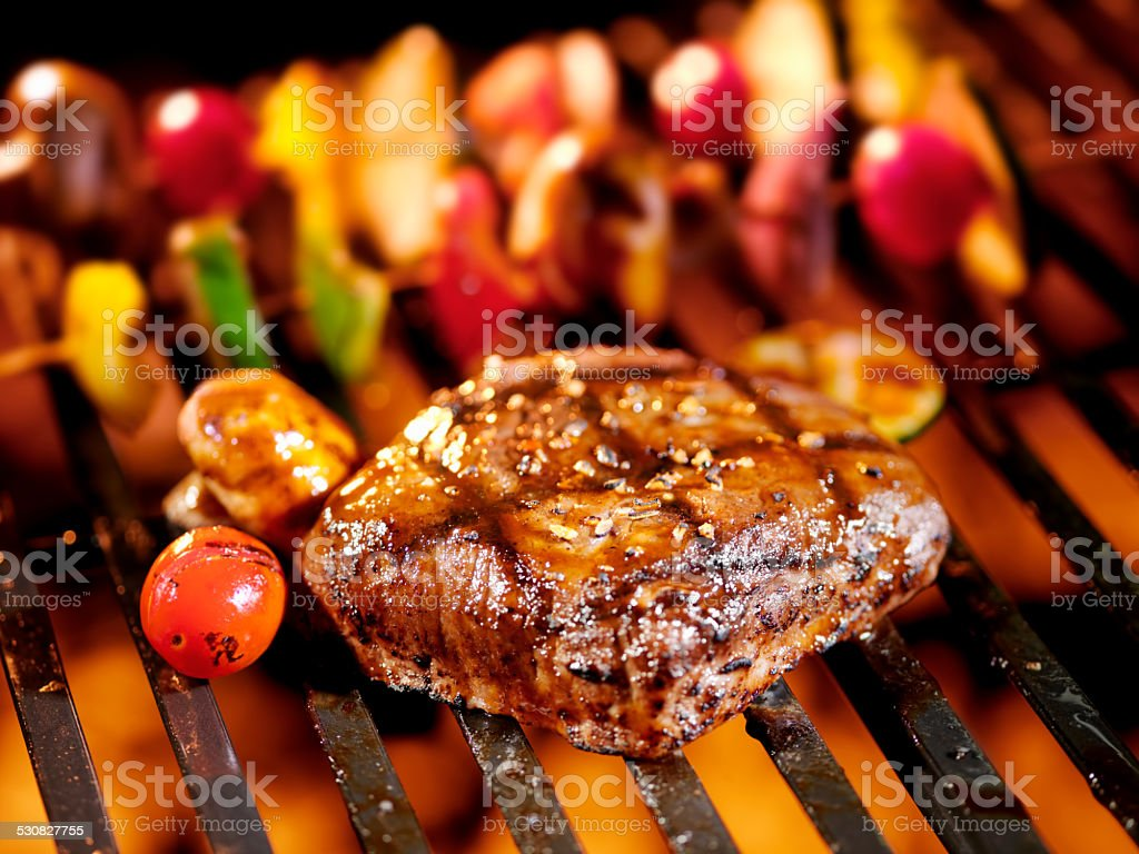 BBQ Steaks stock photo