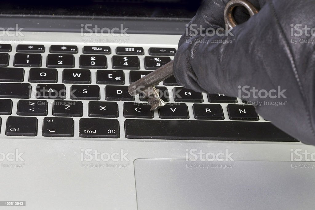steal the key data for computer royalty-free stock photo