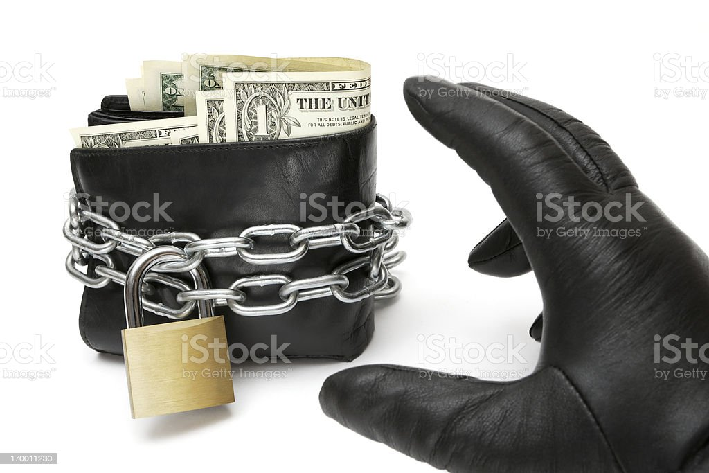 Stealing a Wallet royalty-free stock photo
