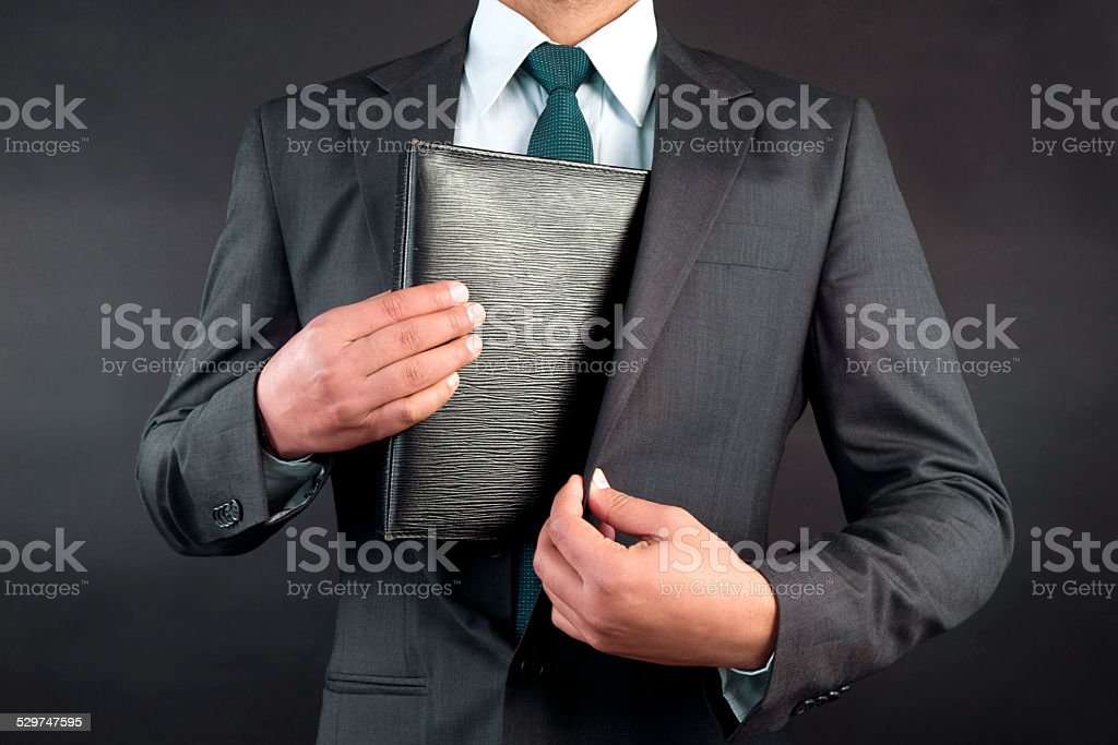 Stealing files stock photo