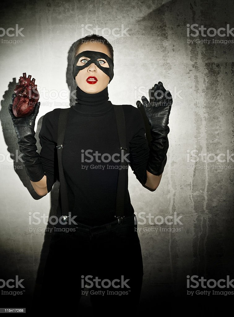stealing heart royalty-free stock photo