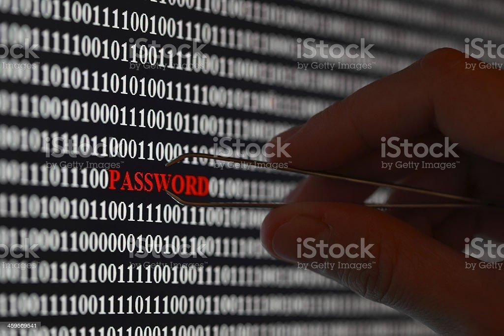 Stealing password stock photo