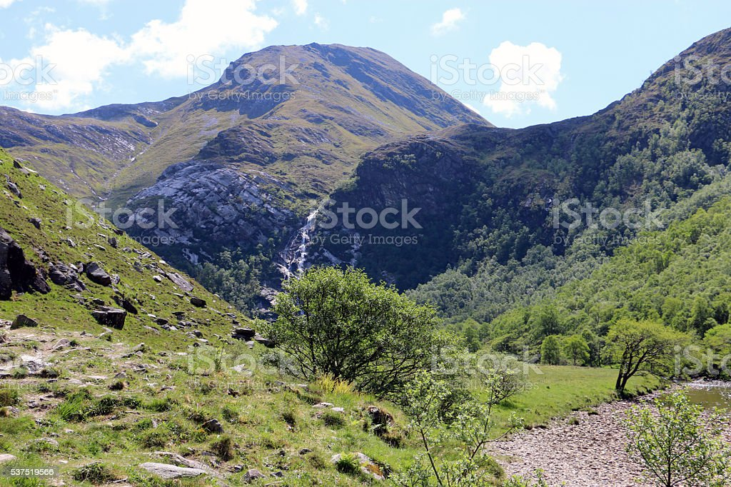 Steall Falls, Scotland stock photo