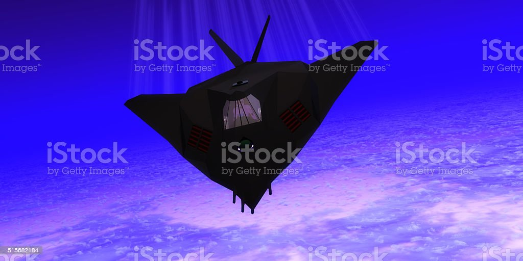 Stealth Fighter Jet stock photo