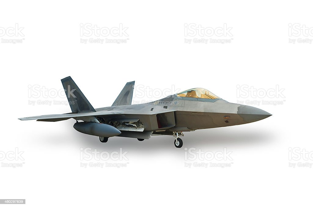 Stealth fighter stock photo