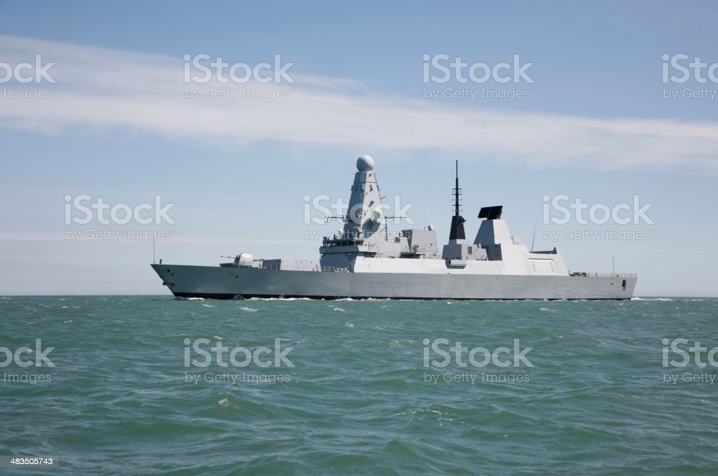 Stealth Military Ship stock photo