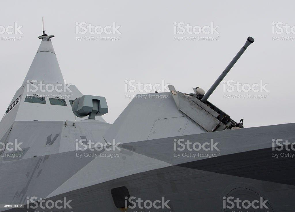 Stealth ship stock photo