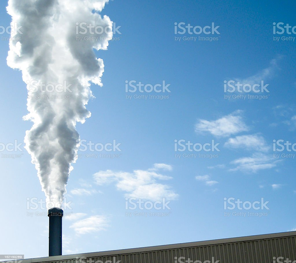 Steam agains blue sky royalty-free stock photo
