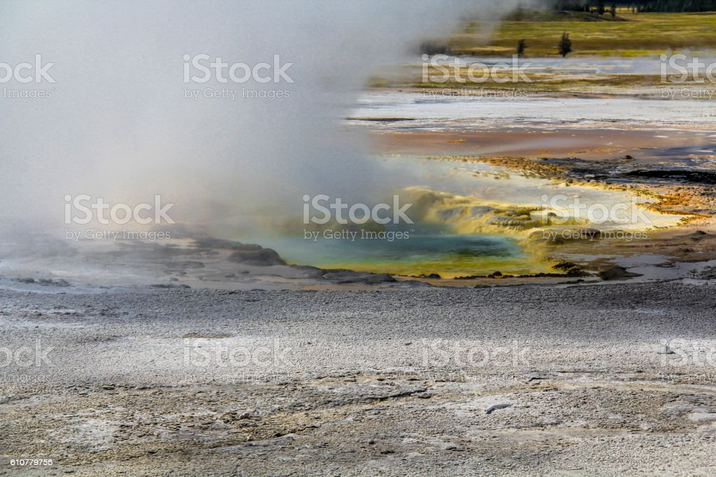 steam and color stock photo