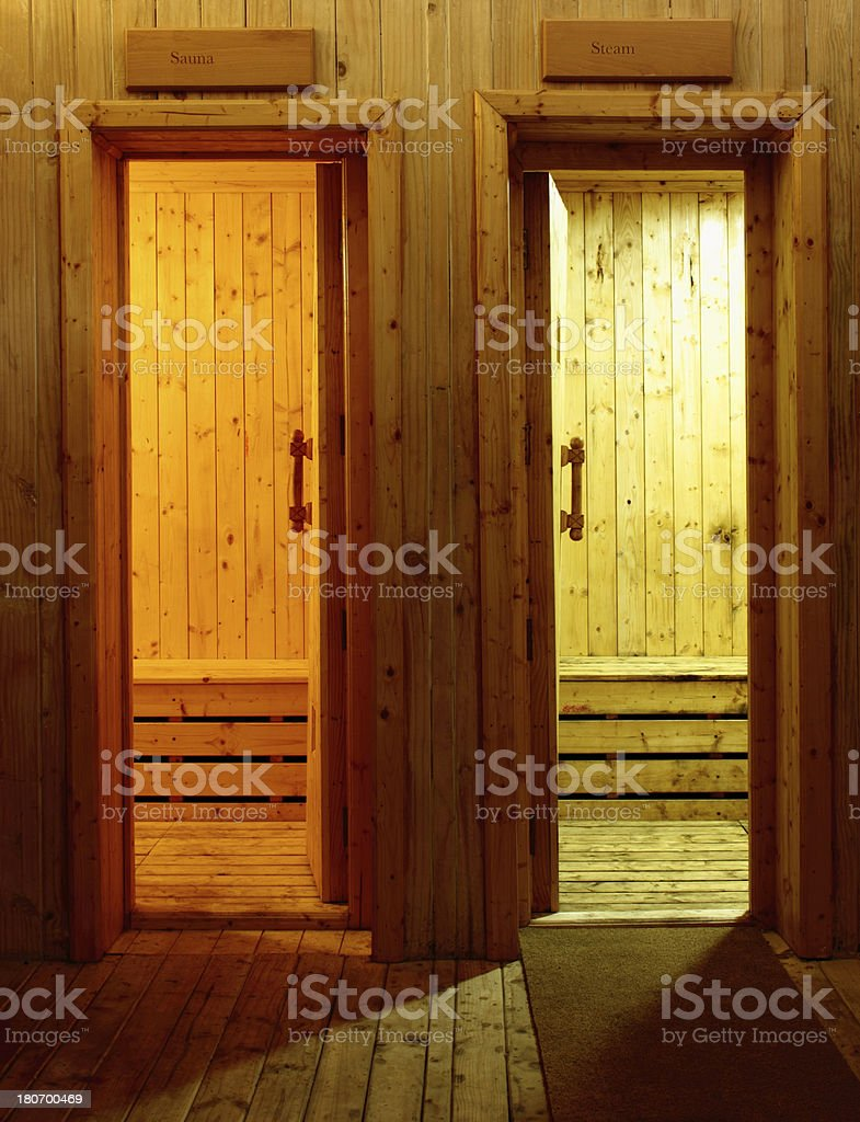 Steam and Sauna room royalty-free stock photo