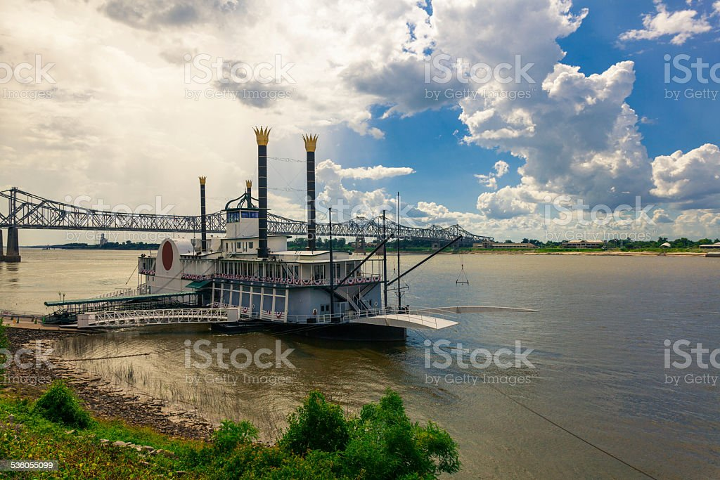 Steam Boat on the Mississippi River stock photo