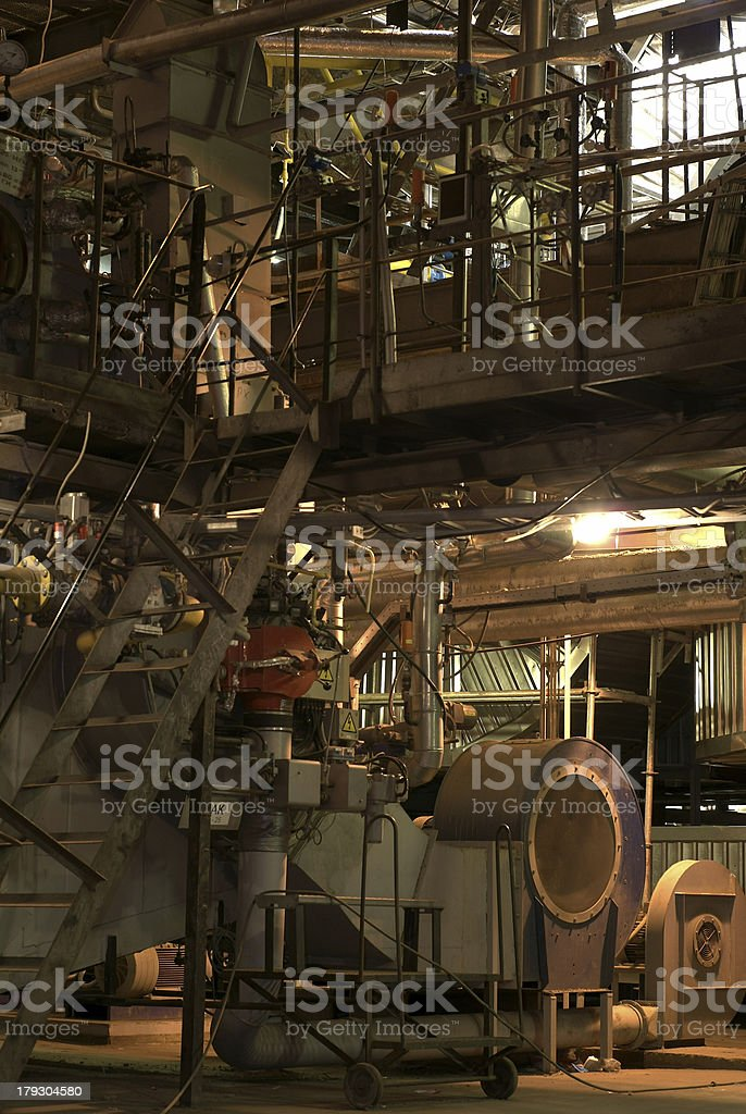 steam boiler and industrial fan royalty-free stock photo